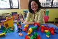 Virginia Wilson at the Child Development Centre's new Wan Chai base. She says the NGO will not give up on finding public premises. Photo: K.Y. Cheng