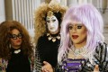 Drag queens (from left) Lil Ms. Hot Mess, Sister Roma and Heklina speak about their battle with Facebook during a news conference at City Hall in San Francisco, California. Photo: AP