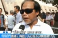 A still from today's CCTV reportage showing an anti-occupy protester comments about the movement in Hong Kong.