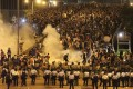 Tear gas was used on thousands of Occupy Central demonstrators in Admiralty on September 28.