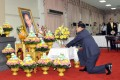 Prime Minister General Prayuth Chan-ocha pays his respect. Photo: Xinhua