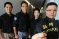 Negotiating officers (from left) Chan Chi-wai, Calvin Cheung, Rachel Hui and Gilbert Wong. Photo: May Tse
