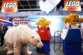 A Greenpeace activist in polar bear suit protests at the Lego booth during the Ani-Com and Games exhibition in Hong Kong. Photo: Sam Tsang