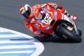 Italian Andrea Dovizioso steers his Ducati around the Twin Ring Motegi track ahead of Sunday's Japanese Grand Prix. Photo: AP