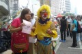 Peter the clown in Admiralty. Photo: Fanny W.Y. Fung