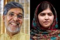 Indian activist Kailash Satyarthi (left) and Pakistani schoolgirl Malala Yousafzai.