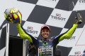 Yamaha MotoGP rider Valentino Rossi of Italy celebrates his first victory at the Australian Grand Prix in nine years. Photo: Reuters