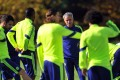 Chelsea manager Jose Mourinho puts his players through their paces ahead of the visit of Maribor hoping to avoid a slip-up in their Champions League campaign. Photo: AFP