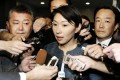 Yuko Obuchi fields media questions. Photo: Reuters