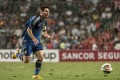 Lionel Messi weaves his magic during Argentina's friendly game against Hong Kong. But even his presence couldn't fill Hong Kong Stadium. Photo: AFP