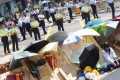Police say radical elements arm themselves with umbrellas, helmets and goggles to charge police cordons. Photo: K.Y. Cheng