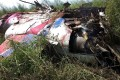 An AT-3 training plane from Taiwan's Air Force Thunder Tiger Team that crashed in a field near Kaohsiung during a training flight on Oct. 21, 2014. Photo: CNA