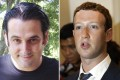 """Paul Ceglia (left) filed his complaint in 2010, claiming that he signed a contract with Mark Zuckerberg (right) in April 2003 to design the website called """"The Face Book"""" or """"The Page Book"""". Photo: AP"""