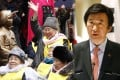 """South Korean Foreign Minister Yun Byung-se (right) urged Japan to resolve the issue of """"comfort women"""". Photos: AP"""