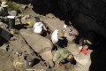 Excavations at Cunchaicha rock shelter in Peruvian Andes. Photo: Reuters