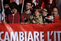 Youngsters march in Rome. Photo: AFP