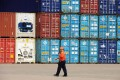 China's exports to Hong Kong surged 34 per cent to US$37.6 billion.