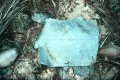 This piece of aluminium could be from Earhart's plane. Photo: Reuters