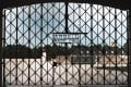 The Dachau camp gate stolen at the weekend. Photo: AFP
