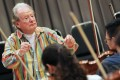 Sir Neville Marriner rehearses with the City Chamber Orchestra ahead of tonight's concert. Photo: May Tse