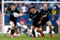 Dan Carter played for 30 minutes during the All Blacks' romp against the USA last weekend, but has not been considered by coach Steve Hansen for Saturday's test against England. Photos: AFP