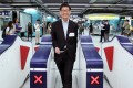 Lincoln Leung at the new Kennedy Town MTR station in September. Photo: Dickson Lee