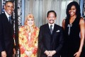 The Obamas with Brunei's queen and Sultan Hassanal Bolkiah. Photo: US Embassy Brunei Darussalam