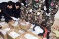 Police display the huge seizure of drugs at Boshe village, Guangdong. Photo: Reuters