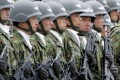Japan's Ground Self Defence Force (JGSDF) soldiers line up during a ceremony in Asaka, north of Tokyo. Photo: Reuters
