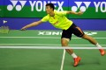 World No 2 Chen Long lost to sixth-seeded South Korean Son Wan-ho in the men's singles final of the Yonex-Sunrise Hong Kong Open. Photos: Xinhua
