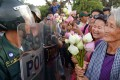 """Nget Khun, or """"Mommy"""", before she was jailed. Photo: AFP"""
