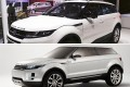 The mainland-produced LandWind X7 which is seen as a lookalike of the luxury sport-utility vehicle Evoque (top). Photos: SCMP Pictures