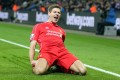 Liverpool's Steven Gerrard celebrates against Leicester. Photo: EPA