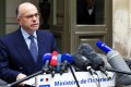 French Interior Minister Bernard Cazeneuve holds a press conference in Paris. Photo: AFP
