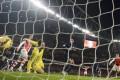 Arsenal's Alexis Sanchez (right) scores against Southampton. Photo: Reuters