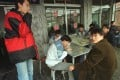 Smoking in restaurants is common in Beijing. Photo: AP