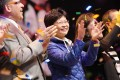 Carrie Lam at a concert at the Hong Kong Coliseum yesterday. Photo: SCMP