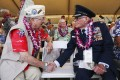 Pearl Harbour survivors share stories in Honolulu.Photo: Reuters