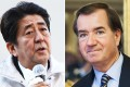 Japan's Prime Minister Shinzo Abe responds to comments by US Republican congressman Ed Royce. Photos: AFP