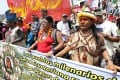 The People's Climate March taking place in Lima. Photo: Reuters