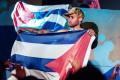 Cuban singer Brian Rodriguez of Los Aldeanos in Havana. Photo: AP