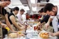 Reporter Charley Lanyon (right) at The Butchers Club class. Photo: SCMP
