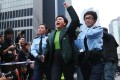 Police take away Emily Lau from Occupy's Admiralty site. Photos: Sam Tsang