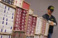 Customs officials seized about 2.1 million illicit cigarettes. Photo: David Wong