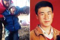 Huugjilt (right), was only 18 at the time of his execution in 1996. His mother (left) weeps after today's court ruling, which found him not guilty. Photos: iFeng.com