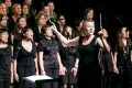 Bethan Greaves, director of Katterwall, conducts Kassia Women's Choir.