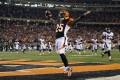 Bengals' Giovani Bernard celebrates after scoring a touchdown against the Denver Broncos. Photos: AFP