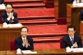 Ling pictured sitting behind former premier Wen Jiabao and ex-president Hu Jintao at the National People's Congress in 2012. Ling was an aide to the former head of state. Photo: AP