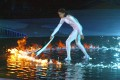 A silver-white bodysuit thought to be the one Cathy Freeman wore when she lit the 2000 Sydney Olympic flame ... believed lost or stolen ... has turned up.  AFP