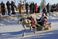 A contestant wearing a Santa Claus costume rides in a sledge pulled by a reindeer during a race at a local winter festival in Genhe of Hulun Buir, north China's Inner Mongolia Autonomous Region, December 24, 2014. Photo: Reuters